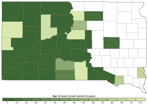 Distribution map of Prairie Rattlesnake (Crotalus viridis)