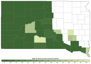 Distribution map of Gophersnake (Pituophis catenifer)