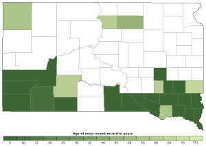 Distribution map of Plains Spadefoot (Spea bombifrons)